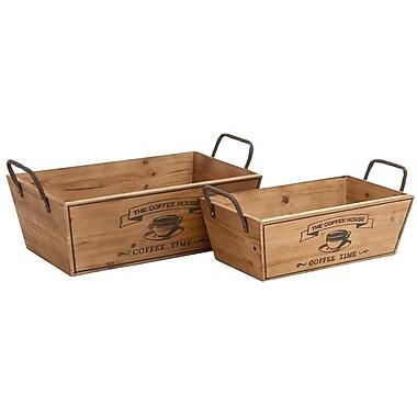 Woodland Imports 2 Piece 8 Bottle Tabletop Wine Rack Set