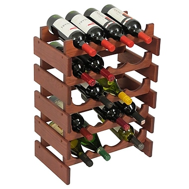 Wooden Mallet Dakota 20 Bottle Floor Wine Rack; Mahogany
