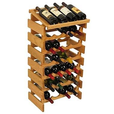 Wooden Mallet Dakota 28 Bottle Floor Wine Rack; Light Oak