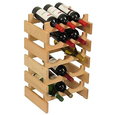 Wooden Mallet Dakota 15 Bottle Floor Wine Rack; Unfinished