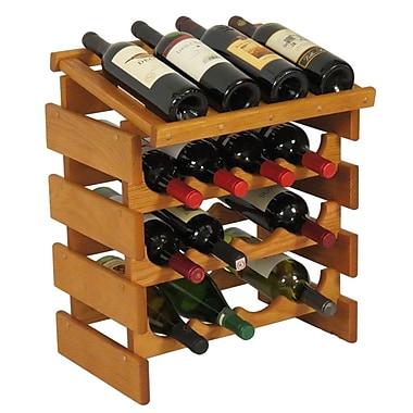 Wooden Mallet Dakota 16 Bottle Tabletop Wine Rack; Medium Oak