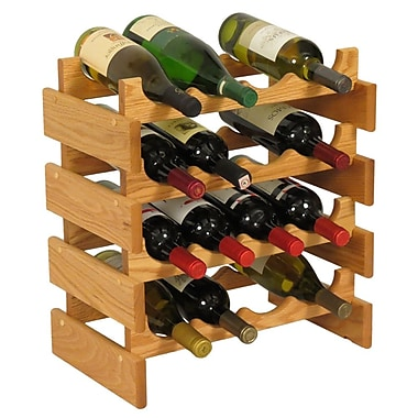 Wooden Mallet Dakota 16 Bottle Floor Wine Rack; Light Oak