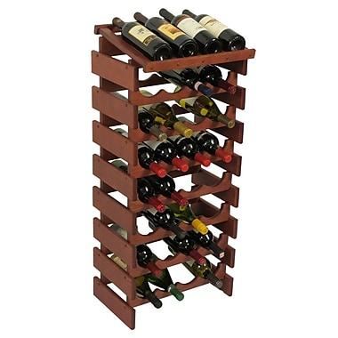 Wooden Mallet Dakota 32 Bottle Floor Wine Rack; Mahogany