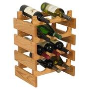 Wooden Mallet Dakota 12 Bottle Floor Wine Rack; Light Oak