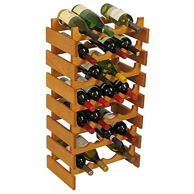 Wooden Mallet Dakota 28 Bottle Floor Wine Rack; Medium Oak