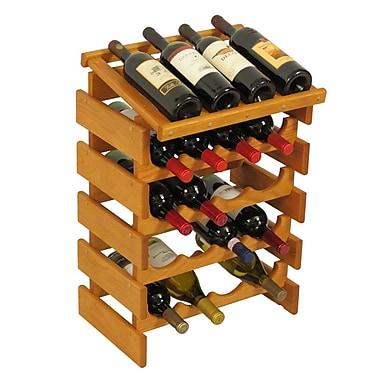 Wooden Mallet Dakota 20 Bottle Floor Wine Rack; Medium Oak