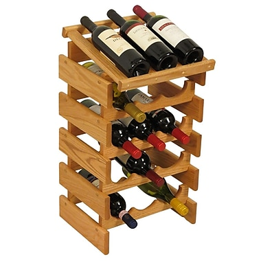 Wooden Mallet Dakota 15 Bottle Floor Wine Rack; Light Oak
