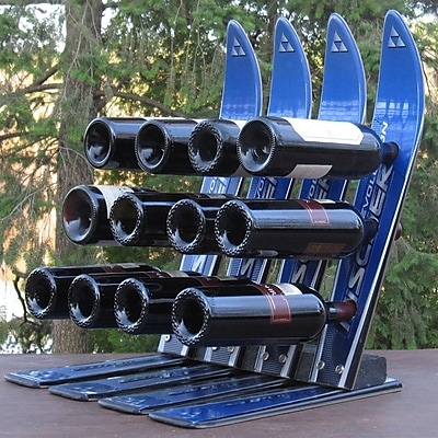 Ski Chair Snow 12 Bottle Tabletop Wine Rack