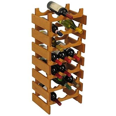 Wooden Mallet Dakota 21 Bottle Floor Wine Rack; Medium Oak