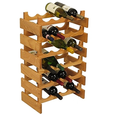 Wooden Mallet Dakota 24 Bottle Floor Wine Rack; Light Oak