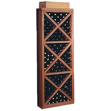 Wine Cellar Designer Series 132 Bottle Floor Wine Rack; Classic Stained Premium Redwood