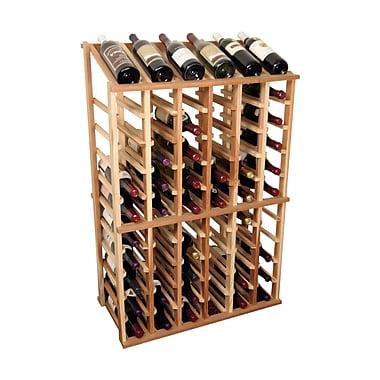 Wine Cellar Designer Series 66 Bottle Floor Wine Rack; Unstained Premium Redwood