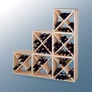 Wine Cellar Country Pine Cube 24 Bottle Floor Wine Rack