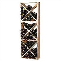 Wine Cellar Premium Redwood 132 Bottle Floor Wine Rack