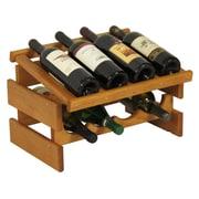 Wooden Mallet Dakota 8 Bottle Tabletop Wine Rack; Medium Oak
