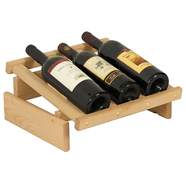 Wooden Mallet Dakota 3 Bottle Tabletop Wine Rack; Unfinished
