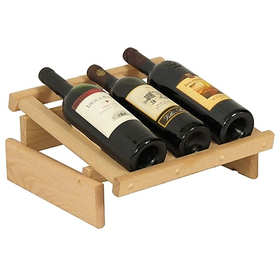 Wooden Mallet Dakota 3 Bottle Tabletop Wine Rack; Unfinished