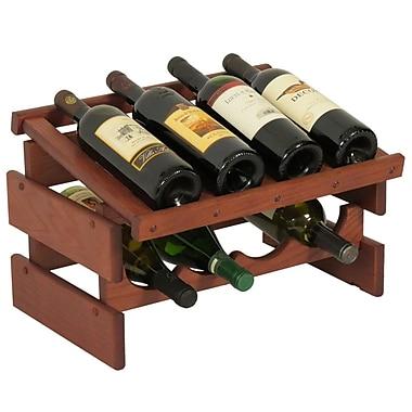 Wooden Mallet Dakota 8 Bottle Tabletop Wine Rack; Mahogany