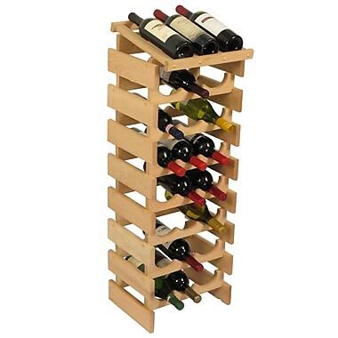 Wooden Mallet Dakota 24 Bottle Floor Wine Rack; Unfinished
