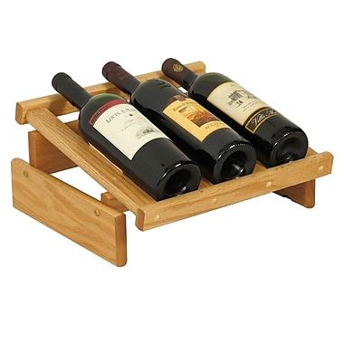 Wooden Mallet Dakota 3 Bottle Tabletop Wine Rack; Light Oak