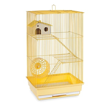 Prevue Hendryx 3-Story Hamster/Gerbil Home-Mint Green; Yellow