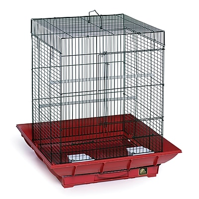 Prevue Hendryx Clean Life Cockatiel Bird Cage; Red / Black WYF078276375328