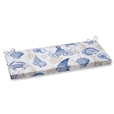 Pillow Perfect Sealife Outdoor Bench Cushion; Marine