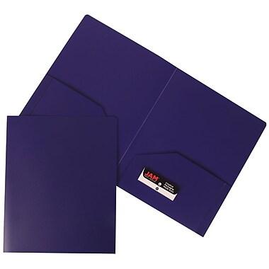 JAM PaperMD – Chemises de plastique robustes, 9 1/2 x 12 (po), violet, 108/boîte