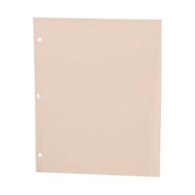JAM PaperMD – Chemise scolaire à trous, en plastique poly, 9 1/2 x 11 1/2 (po), 108/boîte