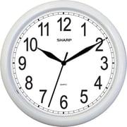 MZ Berger SPC958 Metal Analog Wall Clock, White