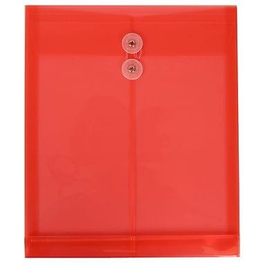 JAM Paper– Enveloppes en plastique ouvertes format lettre, 9 3/4 x 11 3/4 po, rouge, paq./12