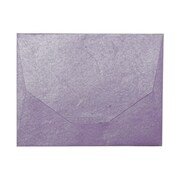 JAM Paper® 10 x 13 Booklet Handmade Envelopes, Purple Recycled, Sold Individually (5964496)