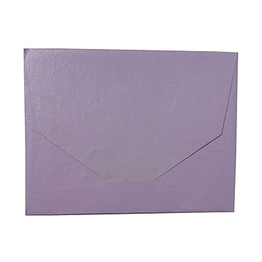 JAM Paper® 10 x 13 Booklet Handmade Envelopes, Metallic Lilac Recycled, 100/pack (05964490B)
