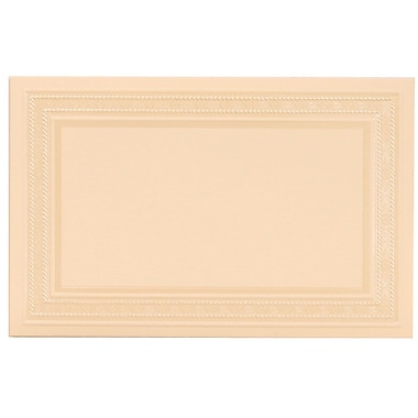 JAM Paper® Placecards, 2.75 x 4.25, Ivory Pearl Embossed Place Cards, 100/pack (312525257)