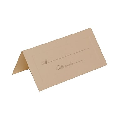JAM Paper® Placecards, Medium, 2 x 4.25, Ivory with Gold Script Place Cards, 25/pack (2259420977)