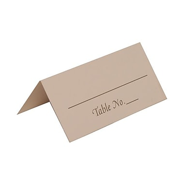 JAM Paper® Placecards, Table Number Place Cards, White with Silver Place Cards, 50/pack (2259420974)