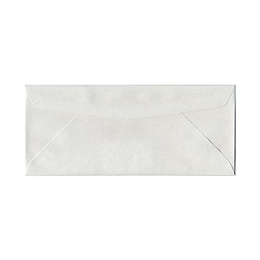 JAM Paper® #10 Business Envelopes, 4 1/8 x 9 1/2, Pumice White Recycled, 25/pack (54041)