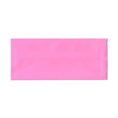 JAM Paper® #10 Business Envelopes, 4 1/8 x 9 1/2, Brite Hue Ultra Pink, 1000/carton (15851B)