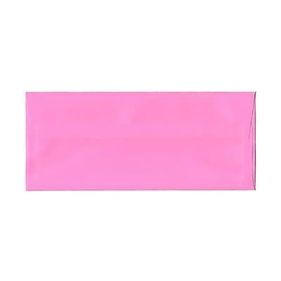 JAM Paper® #10 Business Envelopes, 4 1/8 x 9 1/2, Brite Hue Ultra Pink, 1000/carton (15851B)
