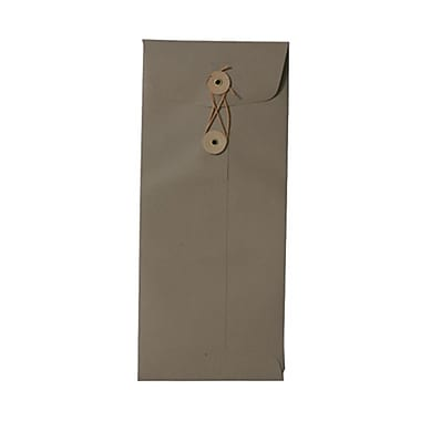 JAM Paper® #10 Policy Envelopes, Button and String Tie Closure, 4 1/8 x 9.5, Simpson Kraft Recycled, 1000/Pack (01261600B)
