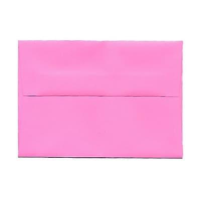 JAM Paper® 4bar A1 Envelopes, 3 5/8 x 5 1/8, Brite Hue Ultra Pink, 25/pack (15792)