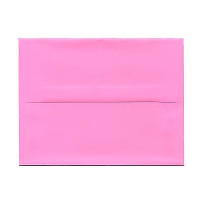 JAM Paper® A2 Invitation Envelopes, 4 3/8 x 5 3/4, Brite Hue Ultra Pink, 1000/carton (WDBH607B)