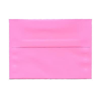 JAM Paper® A7 Invitation Envelopes, 5.25 x 7.25, Brite Hue Ultra Pink, 25/pack (96268)