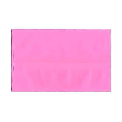 JAM Paper® A10 Invitation Envelopes, 6 x 9.5, Brite Hue Ultra Pink, 1000/carton (96292B)