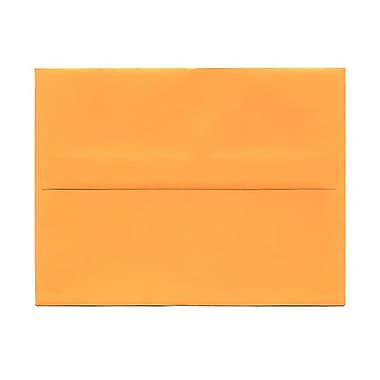 JAM Paper® A2 Invitation Envelopes, 4.38 x 5.75, Brite Hue Ultra Orange, 100/Pack (80336g)