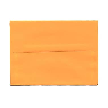 JAM Paper® A6 Invitation Envelopes, 4.75 x 6.5, Brite Hue Ultra Orange, 100/Pack (80344g)