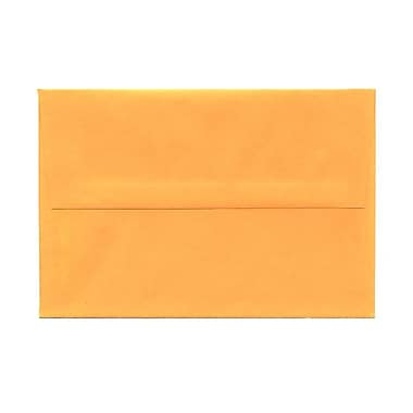 JAM Paper® A8 Invitation Envelopes, 5.5 x 8.125, Brite Hue Ultra Orange, 100/Pack (80369g)