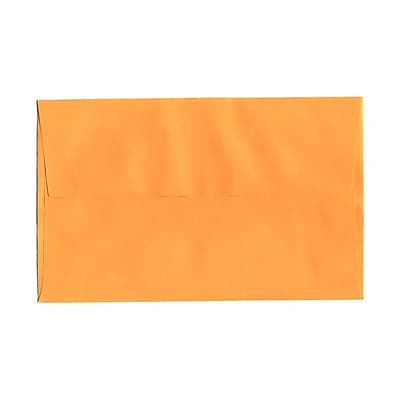JAM Paper® A10 Invitation Envelopes, 6 x 9.5, Brite Hue Ultra Orange, 25/pack (80377)