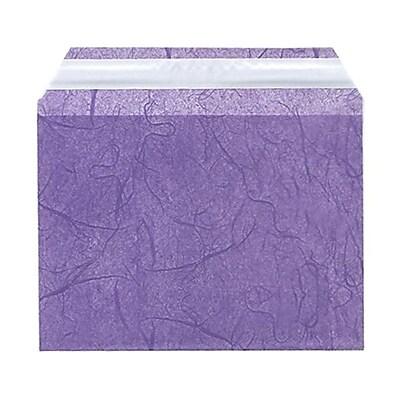 JAM Paper® Cello Sleeves, A6, 4 5/8 x 6 7/16, Purple Fiber, 100/pack (2785501)