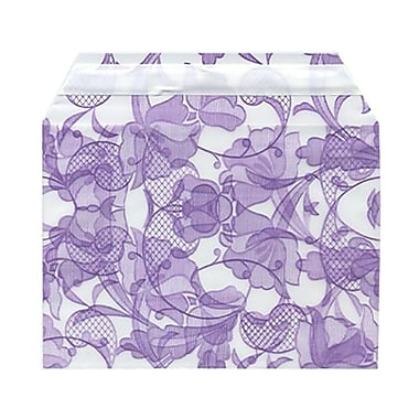 JAM Paper® Cello Sleeves, A6, 4.63 x 6 7/16, Purple Lace, 100/Pack (2785502)